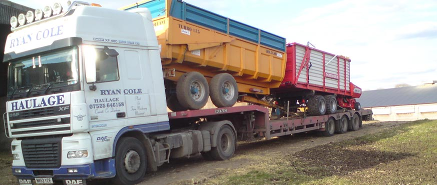 Ryan Cole Tractor Transport | Heavy Machinery Haulage | North East ...